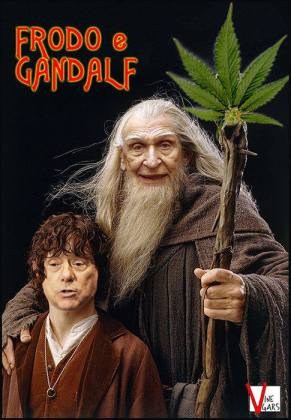 Frodo Berlusconi e Gandalf Pannella Lord of the rings